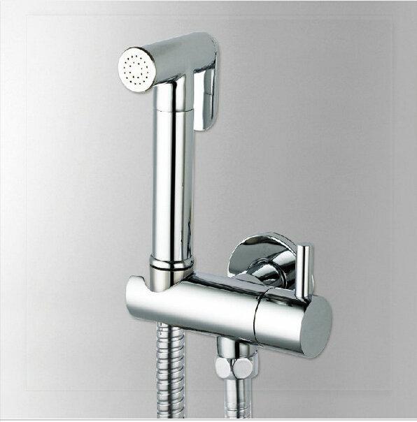 bamboo bathroom Chromed brass bidet sprayer set Bathroom Faucet Accessories hand shower seat shower hose robinet lavabo automati(China (Mainland))