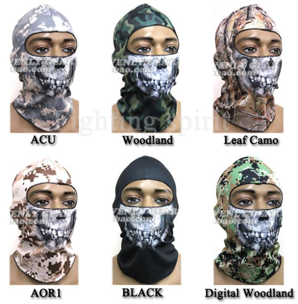 2014 NEW SKULL FACE MASK SCULL BANDANA MOTORCYCLE SNOWBOARDS Ghost Recon U.S. NAVY SEAL Tactical Hood(China (Mainland))