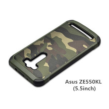 For Asus ZenFone 2 Laser ZE500KL CASE Soldier Camouflage Pattern PC+TPU Silicone Soft Cover For Asus ZenFone 2 Laser Phone Cases