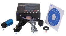 Venta directa de la fábrica, ce, ISO alta velocidad USB2.0 1.2 M píxeles telescopio astronómico guiding soporte de la cámara XP / Vista / W7 / W8 / MAC
