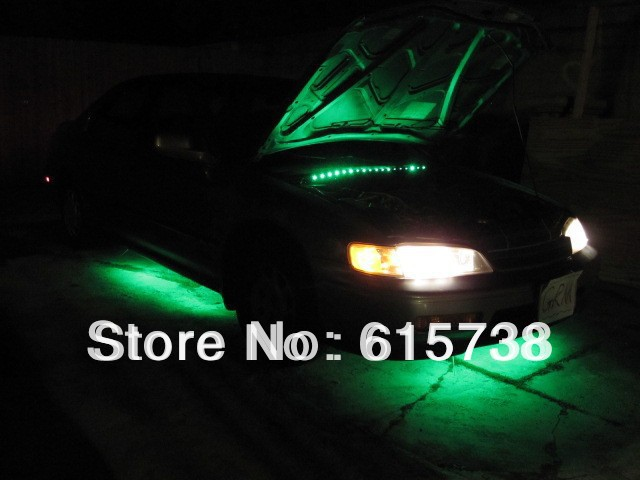 7 color undercar lights under car neon light kit undercar underglow kit neon strip light 36 48 - Underglow neon ...