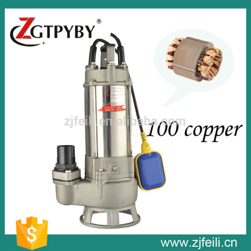 220v 1.1kw 1.5hp S series electric water transfer pumps stainless steel submersible sewage pump automatic booster pump(China (Mainland))