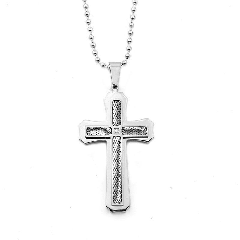 INOX ENERGY titanium cross pendant necklace men jewelry Unisex Men Women Cross Pendant Necklace(China (Mainland))