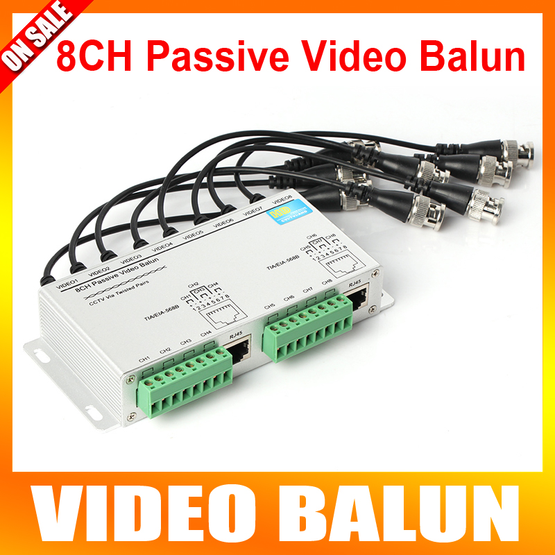 SURGE 8 Channel Active Passive Video Balun Rohs Transmitter Receiver 8CH UTP Cat5 RJ45 Support 720P/1080P HDCVI/AHD/TVI Camera(China (Mainland))