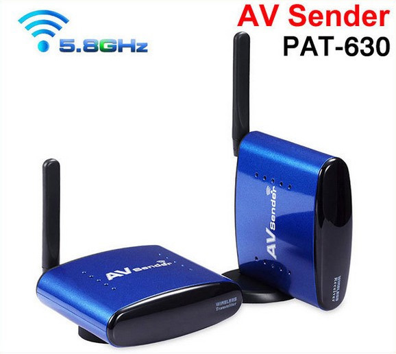 NEW PAT-630 5.8Ghz Wireless AV Audio Video Transmitter and Receiver TV Sender for IPTV DVD STB DVR up to 200M free shipping<br>