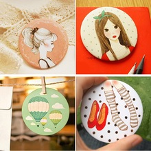 Korean mini portable small mirror girls mirror creative makeup simple beauty slim portable mirror small round mirror /3pcs(China (Mainland))