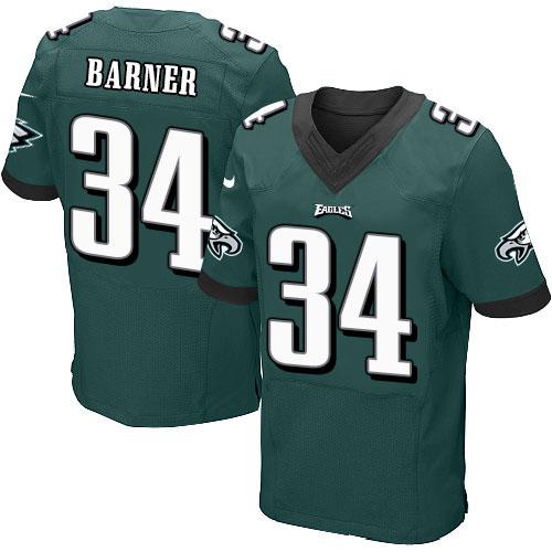 Men's #34 Kenjon Barner Elite Midnight Green Team Color Football Jersey 100% stitched(China (Mainland))
