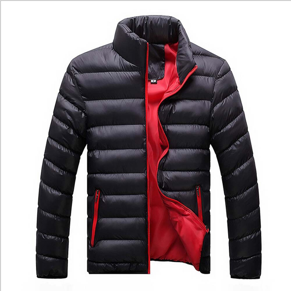 Winter jacket men 2015 new arrival fashion casual slim fit down jacket parka solid stand collar