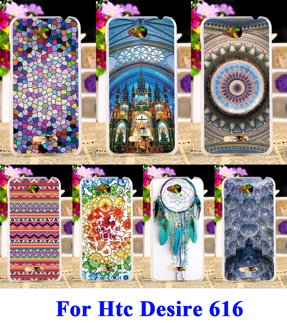 Hard Plastic Phone Cases For HTC Desire 616 Case DIY Back Protection Shell Cover ethnic clothing Dressing Clothes Pattern(China (Mainland))