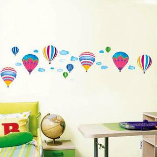 2107 뜨거운 공기 풍선 침실, 거실 텔레비젼 배경은 만화 어린이 ...