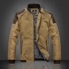 Free shipping 2015 new men's clothing leather patchwork casual jacket male outerwear .M,L,XL,XXL,3XL,4XL,5XL(China (Mainland))