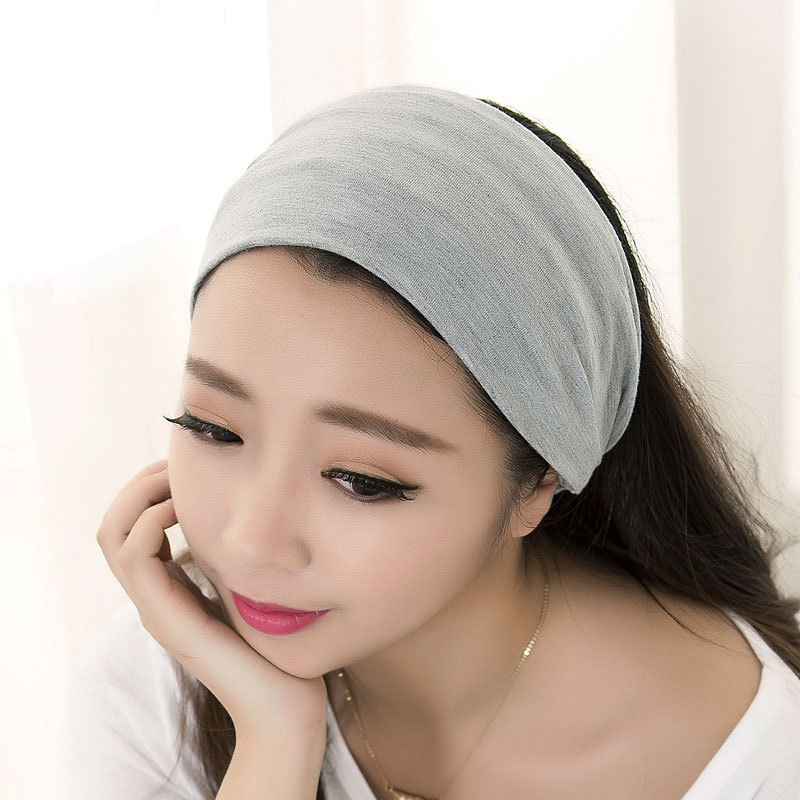 All-match elastic double layer cotton yoga cosmetic hair band hair plate wigs towel hair bands(China (Mainland))