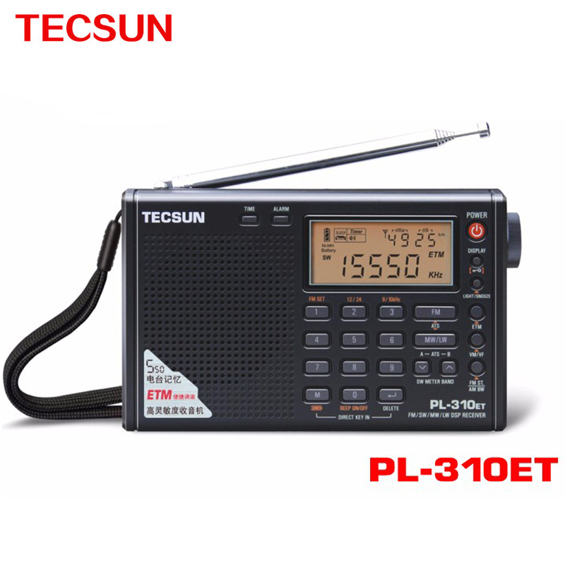 Tecsun PL-310ET World Full Band Portable Stereo FM Radio FM/AM/SW/LW DSP Radio Digital Demodulation Radio Clock Free Shipping(China (Mainland))