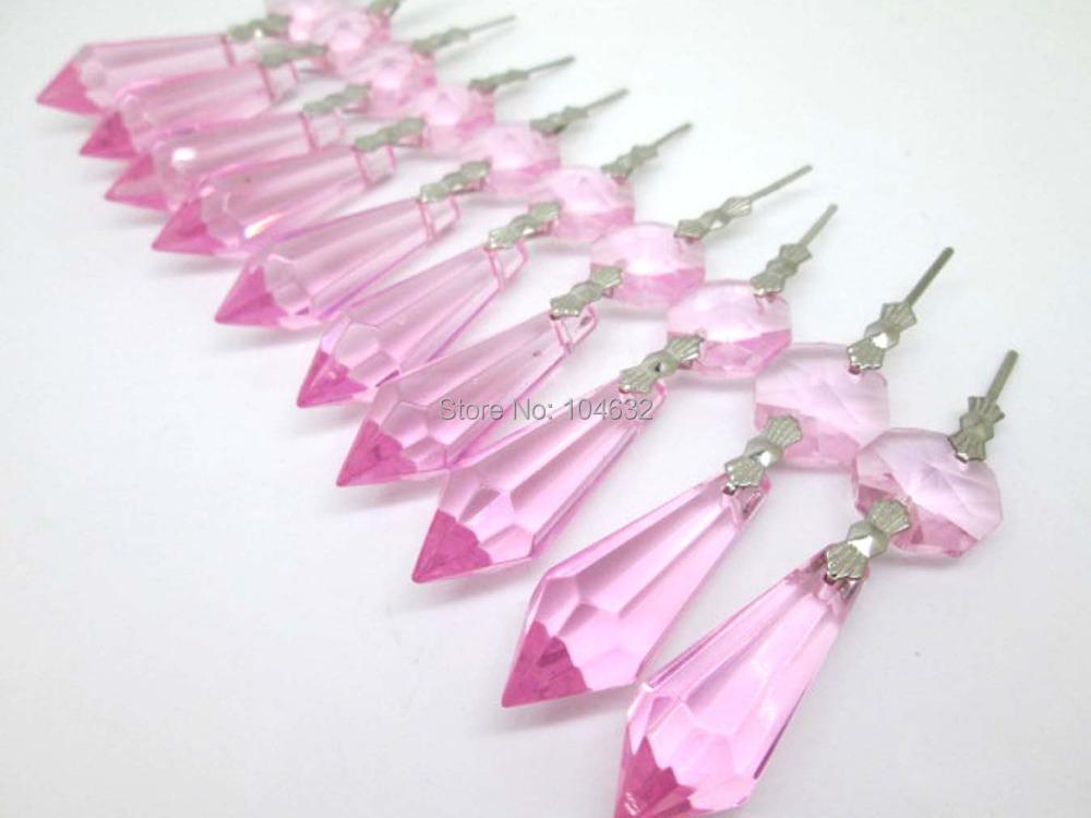 chakra spectra 30 rosa kronleuchter glas kristalle octagon. Black Bedroom Furniture Sets. Home Design Ideas