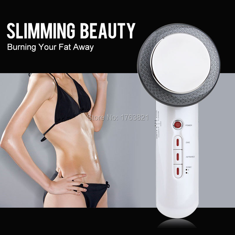 Infrare Machine Facial Machine Home Use 3 Mhz Ultrasound Photon Micro Current EMS Ultrasounic Slimming Face Care Beauty Device(China (Mainland))