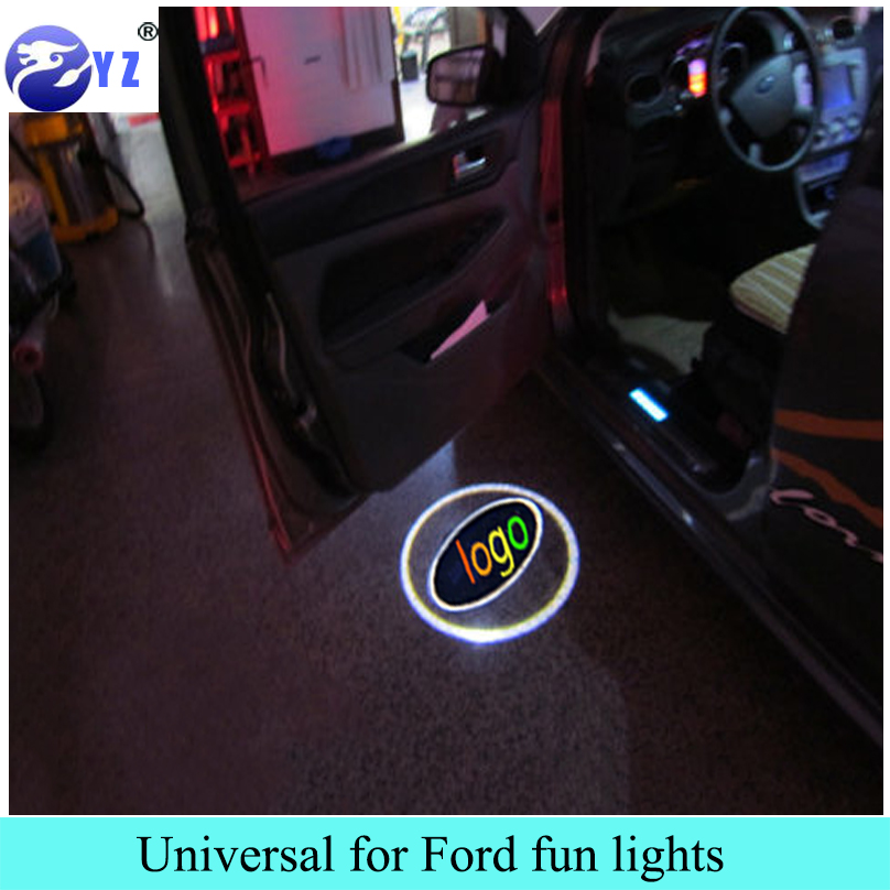 1 Pair for Ford Led logo emblem car styling 3D door Welcome Light Projector Laser Ghost Shadow Lamp Universal for ford(China (Mainland))