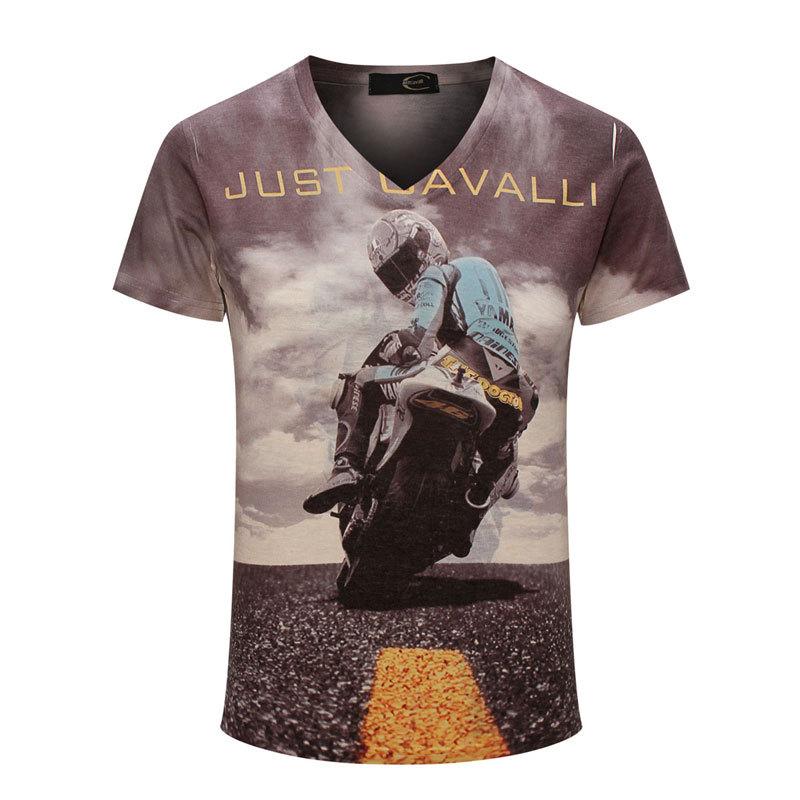 Гаджет  New 3D Moto Biker Printing Camisa Masculina 2015 Summer Fashion V-neck Short Sleeve Sport T Shirt Men Brand Tee Shirt Size Xxxl None Одежда и аксессуары