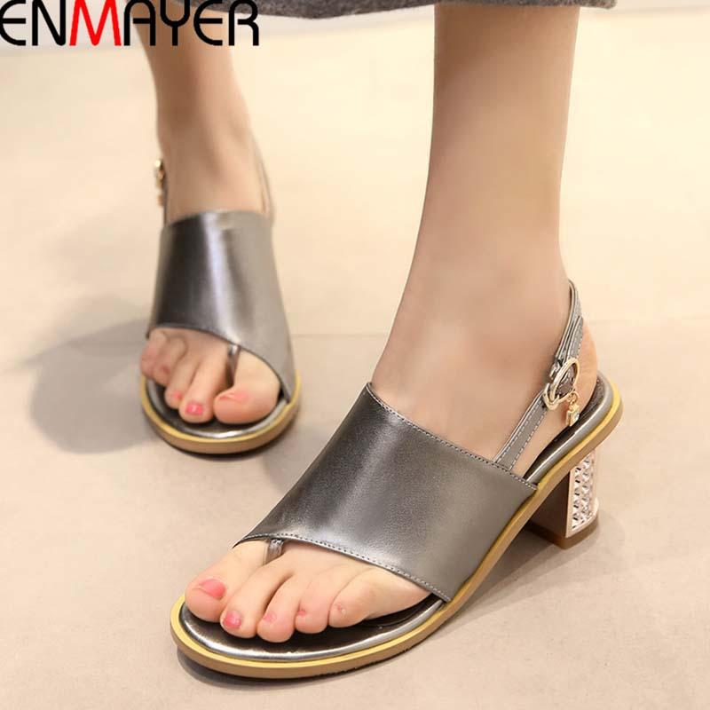 New 2016 Women Sandal Flip Flops Sandals Women Summer Shoes Woman Sandalias Platform Sandals Full Grain Leather High Sandals