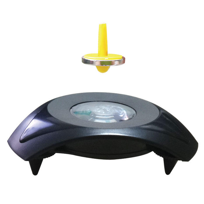 Miraculous UFO Magnetic Levitation Floating Flying Saucer Toy,Magic UFO Spinning Top Gyroscope Suspended physics Exercise Gadget(China (Mainland))