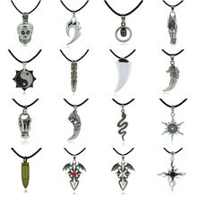 2014 Hot Trendy Male Fashion Shape Crystal Pendant Chain Necklace For Men Pendant Necklace Jewelry