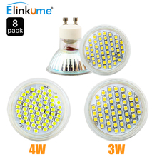 Buy Elinkume GU10 LED Bulb 2w 3w Spotlight Bulb 48 60pcs SMD3528 Home Lamp With Glass Cove AC 220v Spot Light for Downlight for $2.44 in AliExpress store