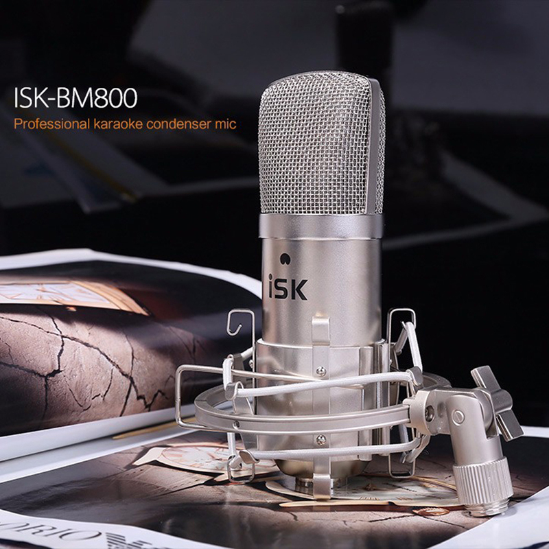 Фотография 2016 New Professional ISK BM-800 Condenser Microphone Recording Microphone Music Create Broadcast And Studio Microphone A#V9