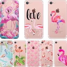 Buy phone cases summer Flamingos love soft silicone clear case cover Apple iPhone 7 7plus 6 6S 6plus 6splus 5S SE coque fundas for $1.99 in AliExpress store