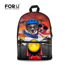Hot 2016 Women Backpacks Fashion School Backpack for Kids Children Animal Cute Dog Printed Girls Student Travel Bagpack Mochila(China (Mainland))