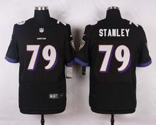 Baltimore Ravens #89 Steve Smith Sr #79 Ronnie Stanley Elite White Black Alternate and Purple Team Color High quality(China (Mainland))