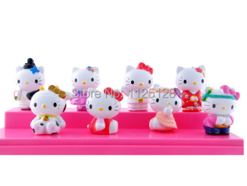 8Pcs/set Lovely Hello kitty PVC Collection Action Figure Model Toy 5cm Free shipping(China (Mainland))
