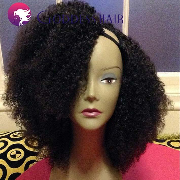 7a Virgin Brazilian Afro Kinky Curly U Part Wig 180