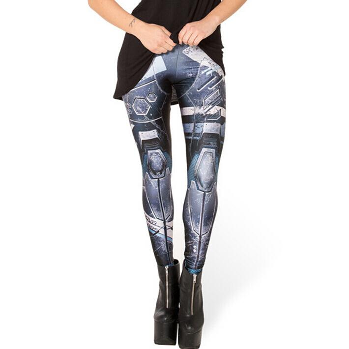 3D fashion thin section blue sky digital printing machine wholesale and retail sexy WOMEN SLIM skinny leggings female(China (Mainland))