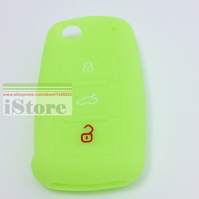 1pc Luminous Car key cover case for Car Key Case for Seat Altea Alhambra Ibiza TOLEDO