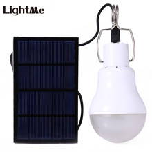 Lightme 130LM 15W Portable LED Bulb Solar Energy Garden Lamp LED Lighting Solar Panel Light Outdoor Camping Hiking LED Bulb