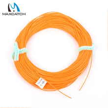 Maxcatch Running Fly Line 0.6mm 0.7mm 0.9mm Orange Or Yellow Fly Fishing Line(China (Mainland))