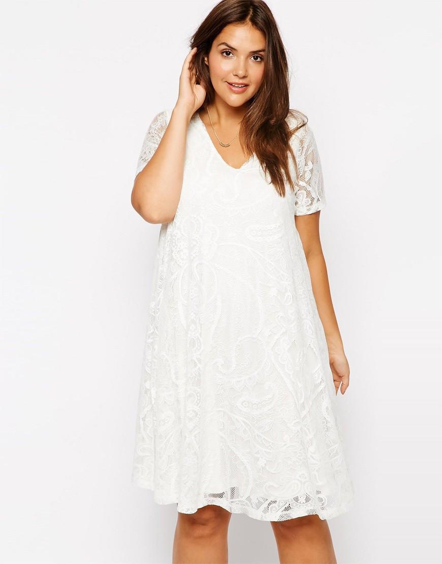 White Dresses Plus Size Women
