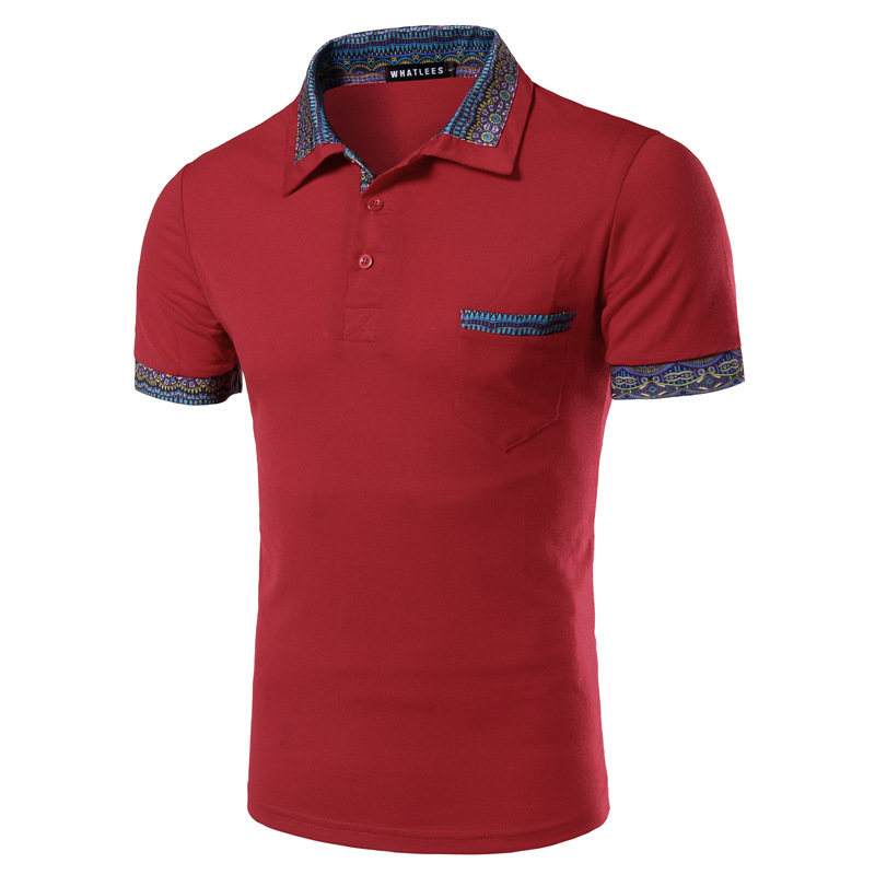 Popular polo red buy cheap polo red lots from china polo for Wine colored mens dress shirts