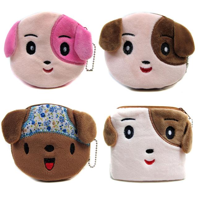 2015 милая собака плюшевые кошельки кошельки женщин детей мини-мультфильм сумки бесплатная ...