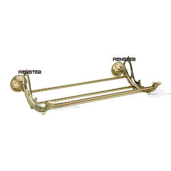 Copper bathroom luxury hardware accessories gold plated fashion antique bath towel rack bathroom 8371b