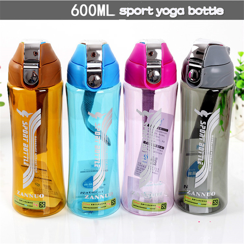 Fashionable Outdoor Yoga Sports Bottle No Leak Colorful Shaker Plastic Cup Travel Cute Cups with Tea Infuser Eco-friendly(China (Mainland))