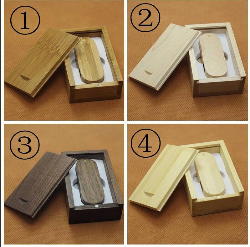 Custom Swivel wooden usb + box usb 2.0 memory flash stick Pen driver (over 15 sets.logo fee free)(China (Mainland))