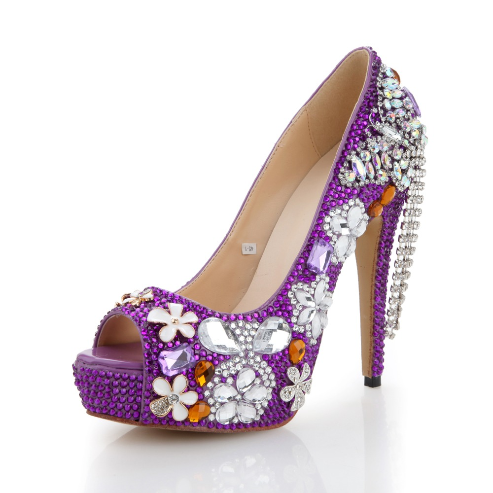 Purple Crystal Heels