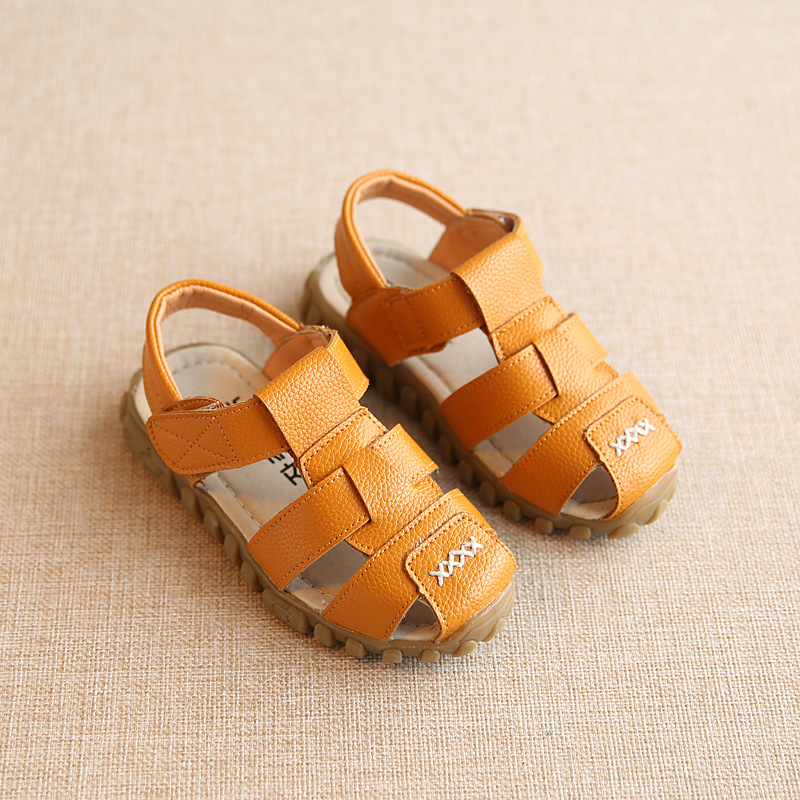Brand new kids shoes boys shoes summer leather sandals boys sandals kids fashion closed toe sandals kids sandals boys(China (Mainland))