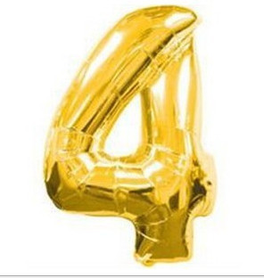 1 pcs 16 Helium Balloons Foil Balloon Silver/Gold Number 4 Balloons Birthday New Year Party Wedding Decoration Balloon<br><br>Aliexpress