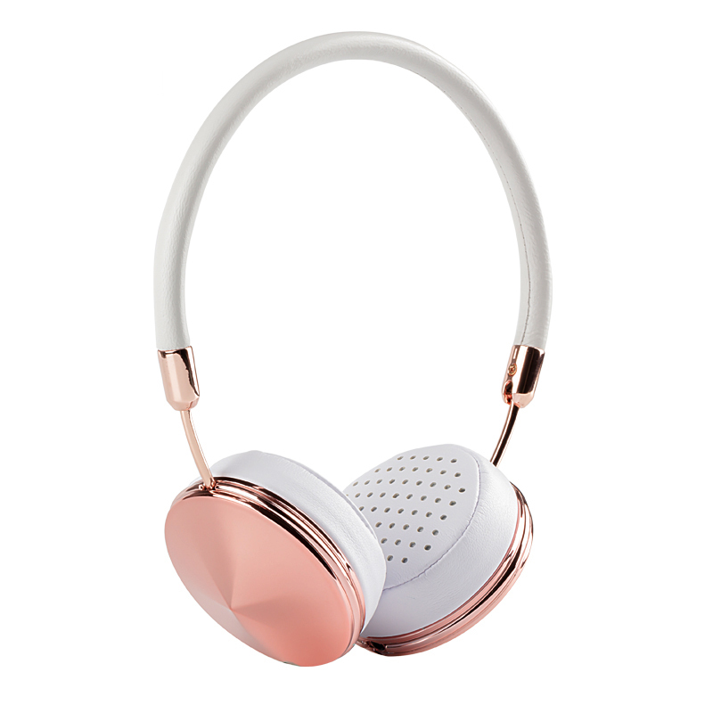 Headband Wired Rose Gold Headphones for Girls with Mic Fone De Ouvido On-Ear Headset For iPhone Samsung Blanou BH868(Hong Kong)