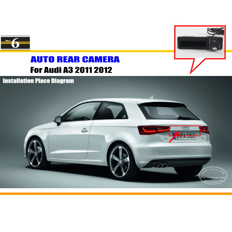 Car Rear View Camera For Audi A3 2011 2012 / Reverse Camera / HD CCD RCA NTST PAL / Trunk Handle OEM(China (Mainland))