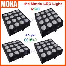 4PCS/LOT Matrix Led 16 Aluminum Housing material Light 4x4 Four Lines RGB Lamp DMX Light Warranty 1 Year 30Wx16 Projector(China (Mainland))