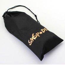10 in 1 lot Black Satin sex toys Bag With SMSPADE logo sexy packaging bag for