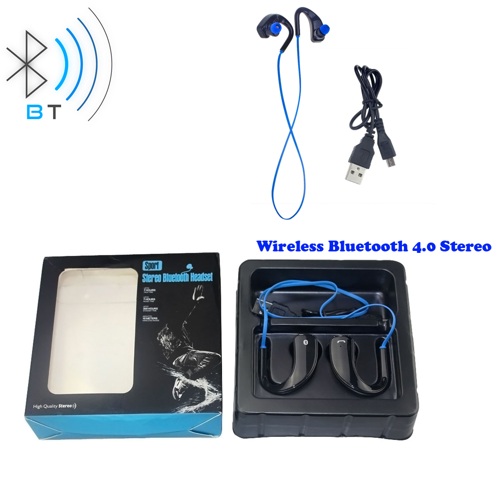 New Stereo Wireless Bluetooth Headset 4.0, Fashion Headphone Bluetooth Sport Running Headset, Talking & Play Time 4-6 Hours(China (Mainland))