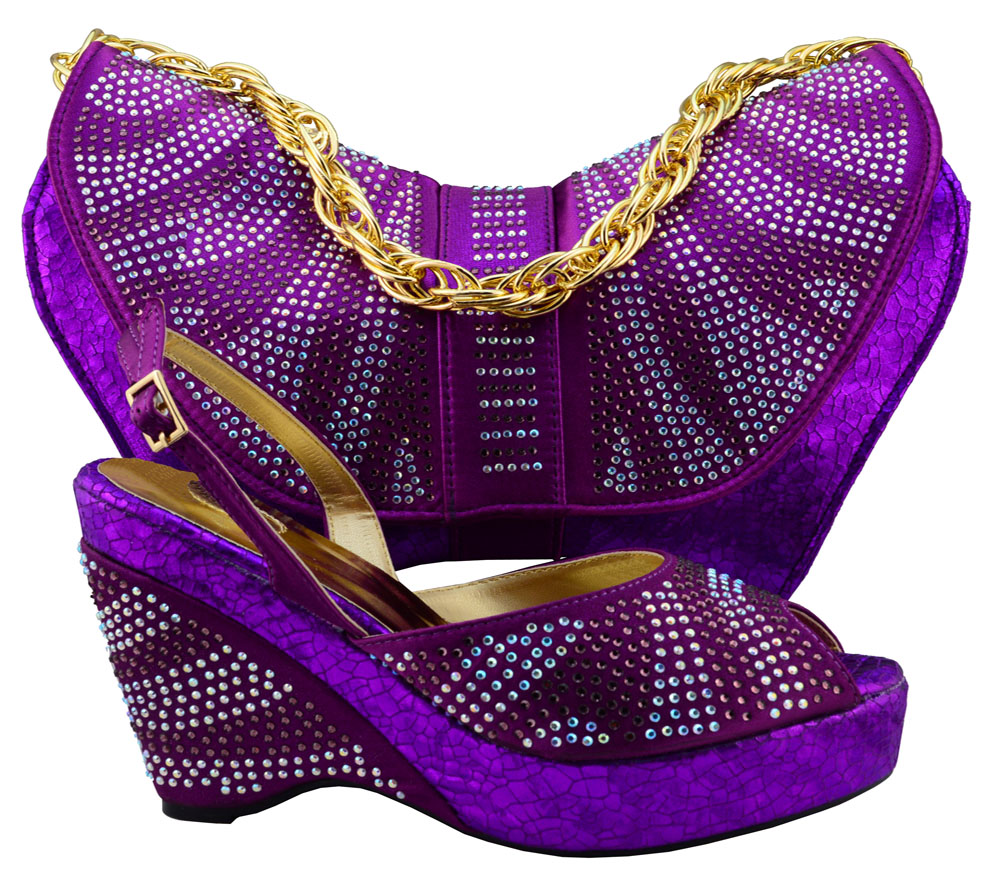 Italian Shoes With Matching Bags To Match ,New purple ...